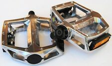 "Wellgo BMX bicycle aluminum platform pedals 1/2"" (FOR ONE PIECE CRANKS) SILVER"