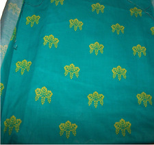 STOCK n. 5 Scampolo Tessuto Verde e Giallo fantasy Cotone Stoffa Arredo