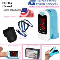 LED Finger Tip Pulse Oximeter SPO2 PR Blood Oxygen Monitor+ Pouch Care Healthy