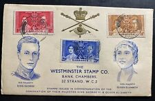 1937 Barbados King George VI Coronation FDC First Day Cover KGVI 1