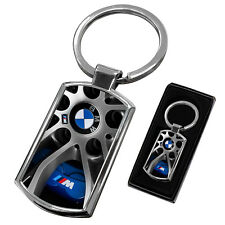 BMW CHROME METAL NEW KEYRING KEY CHAIN RING FOB - DESIGN 4