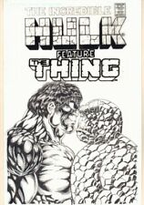 The Incredible Hulk feat The Thing Cover Recreation Commission art by Ron Wilson Comic Art