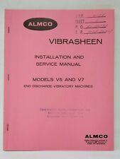 ALMCO Vibrasheen Installation & Service Manual Models V5 &V7