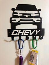 Chevy Silverado Pickup Key hook or dog leash hanger CNC metal cut wall art