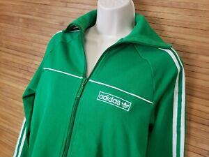 Adidas Green Full Zip 3 Leaf Track Jacket Womens Size Medium M
