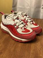 Nike Air Max 98 GS Size 6Y University Red Summit White BV4872-600