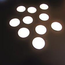 10 Kreise Silber / Weiss  Reflexfolie Reflektorband Reflektor Aufkleber reflekt