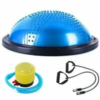 """23"""" Yoga Half Ball Balance Trainer Exercise Fitness Strength Gym Workout w Pump"""