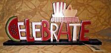 """Celebrate"" Wood Tabletop Patriotic Decoration"