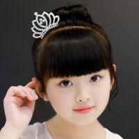 Kids Girls Princess Hair Comb Party Crown Headband Crystal Hair Accessories UN