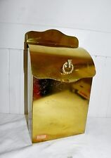 Vintage Wall Mount Brass Finish Mailbox Box Horse Head Horsehead Motif
