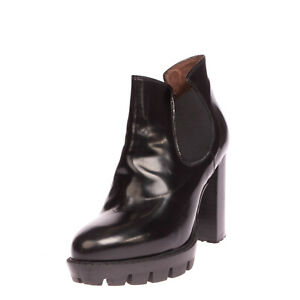 RRP €185 LAURA BELLARIVA Leather Ankle Boots EU37 UK4 US7 Platform Made in Italy