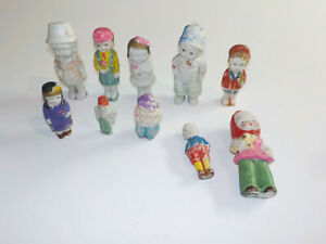 10 VINTAGE MADE IN JAPAN BISQUE FIGURES/DOLLS Mixed Lot
