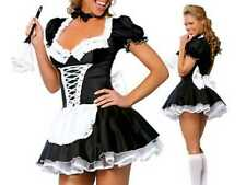 French Maid Fancy Dress Outfit Size 10 - 12 Roleplay Dress + Feather Duster Sexy