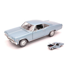 CHEVROLET IMPALA SS396 COUPE' 1965 BLUE 1:24 Welly Auto Stradali Die Cast