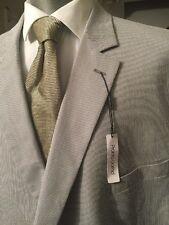 Pronto Uomo Men's Dress Coat Size 58 R 75% Cotton  NWT $190  2 Button Style Str