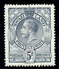 Swaziland 1933 KGV 5s grey MLH. SG 19. Sc 18.