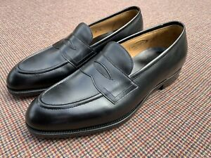 New $1285 EDWARD GREEN Piccadilly Black Calf Loafers Sz 6.5D UK 7 US Made In UK