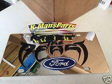Meet the Beast Ford emblem stainless steel vanity license plate tag