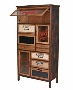 Cabinet Loft Wardrobe Retro Display Case Apothecary Cabinet High Chest Factory