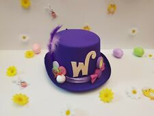 Willy Wonka Chocolate Factory Top Hat Fancy Dress. Willy Wonka Purple Top Hat.