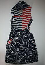New NEXT UK Graffiti Print Hooded Jumper Dress size 5-6 116 cm NWOT Smile Happy