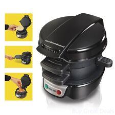 Hamilton Electric Sandwich Maker Quick Breakfast Machine Fast Family Morning New