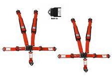 Simpson 2x2 Latch & Link Harness Seat Belts Bolt In Red W/Black Hardware