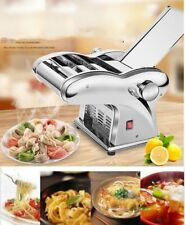 US 110V Electric Pasta Maker Dumpling Skin Dough Noodles Machine +2 Cutters