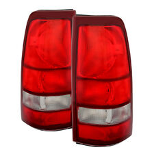 99-02 Silverado 99-03 Sierra 1500/2500/3500 Factory Style Red Clear Tail Lights