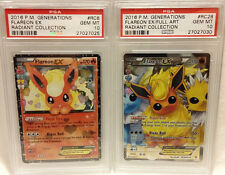Set 2016 Pokemon XY Generations RC6 & RC28 Flareon EX Radiant PSA 10 Gem Mint!