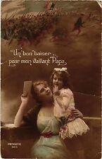 CPA MILITAIRE GLAMOUR Lointin-Un bon baiser pour mon vaillant Papa (329337)