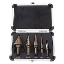 5pcs/set Drill Hog Step Drill Bit Step Set with Case for Metal Wood Cutter  NIGH