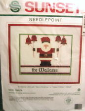"Sunset Needlepoint Kit NIP ""Noel Santa"" 12"" x 9"", Persian Wool"