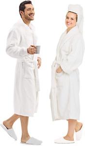 Luxury Bathrobe Towel 100% Cotton , Spa Robe Combed Terry Cotton Cloth