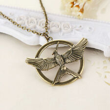 RF The Hunger Games Mockingjay BRONZE Color Pendant Necklace