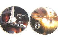 Guild Wars Nightfall Video Game, Rated T, 2 Disc Set, Online PC CD ROM 1217