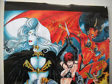 1996 WOMEN OF CHAOS POSTER  VF/NM