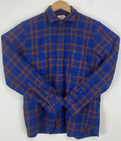Brooks Brothers Pendleton Red Fleece Blue Plaid Shirt Size XL 100% Wool Youth