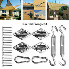 More details for sail shade steel fixings fittings accessories for use w sun shade sail canopy