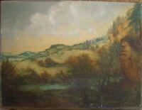 K.Zörner Dipinto a Olio Pendio Paesaggio Espressionista Antico Autunno Eifel ?