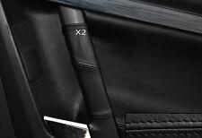 BLACK LEATHER 2X REAR DOOR HANDLE SKIN COVERS FITS OPEL HOLDEN VECTRA C 02-09