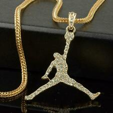 "Air Jordan GP Pendant/Necklace With 24"" Franco Snake Chain"