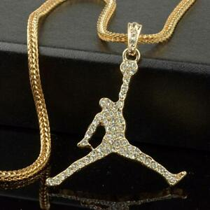 """Air Jordan GP Pendant/Necklace With 24"""" Franco Snake Chain"""