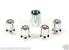 """OEM NEW 2015 Ford Mustang 19"""" Locking Lug Nut and Key Set- Exposed Chrome Shelby"""