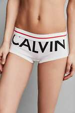 Calvin Klein Boyshort Shorts Exposed Logo - RRP £26 - New