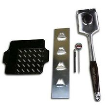 Vision Grills Grilling Accessory Kit - Wok, Brush, Thermometer & Potato Rack