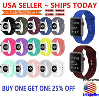 Replacement Sports Silicone Strap Band for Apple Watch Series 5/4/3/2 44/40/42mm