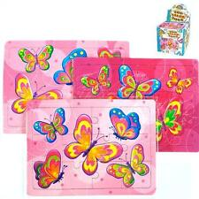 12x Butterfly Themed Jigsaws - Party Bag Fillers - Butterfly Themed Party Toys
