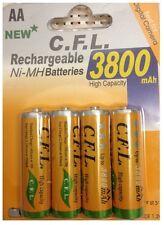 4 x AA MIGNON NI-MH AKKU 1,2V 3800 mAh Wiederaufladbar Batterien Akku aufladbar